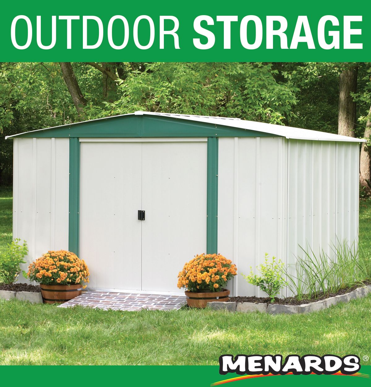 Traditional Gable Roof Styling Combines With Arrow Design And Engineering Features To Make The Hamlet Tops In Eco In 2020 Lawn And Garden Garden Equipment Steel Sheds