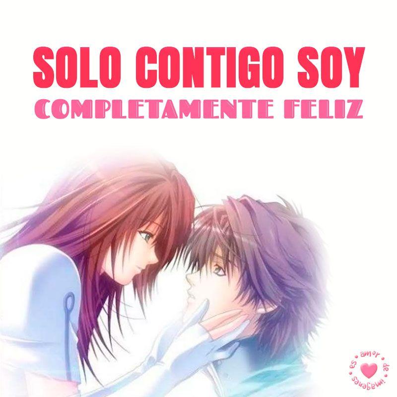 Bonita Pareja Anime Con Frase De Amor Corta Amor De Imagenes