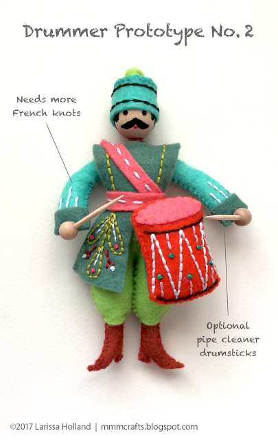 final Drummer prototype and Sulky Printable Sticky Fabri