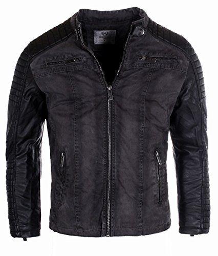 Redbridge veste blouson veston Biker Vintage Look R-41451W homme ... 99096575cbee