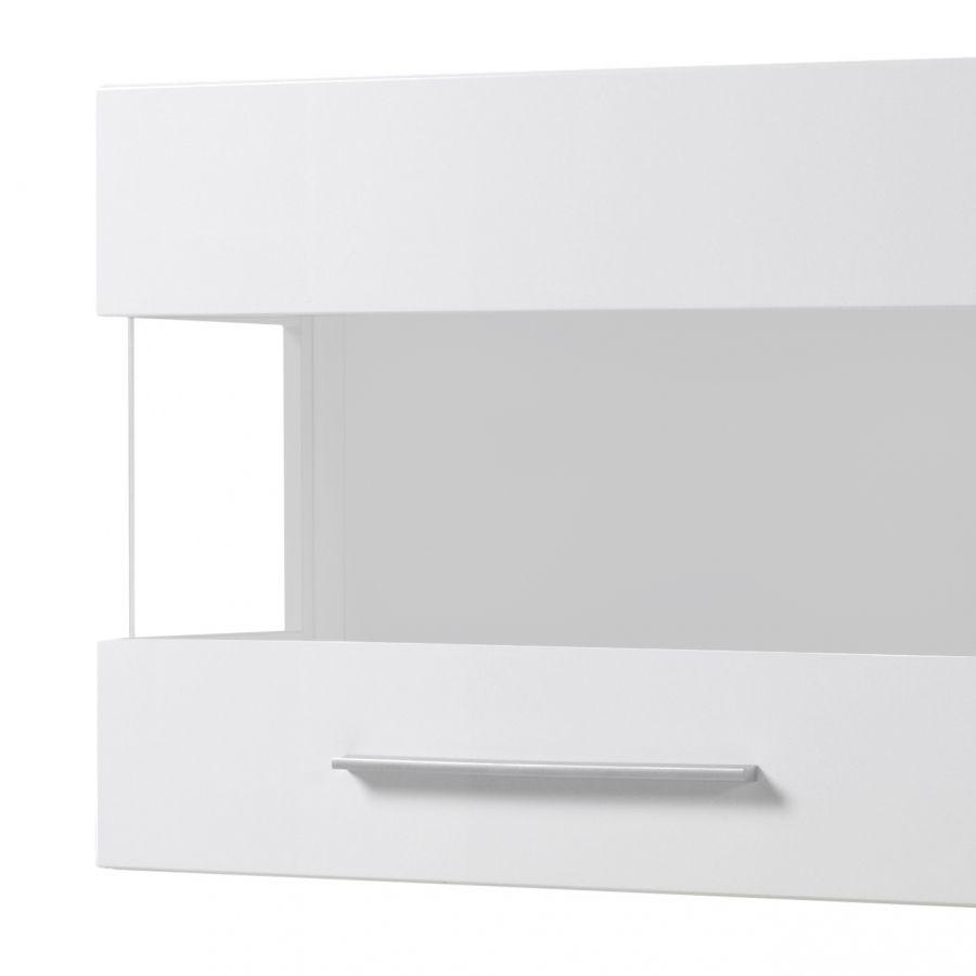 Hängevitrine Liminka - Hochglanz Weiß / Weiß