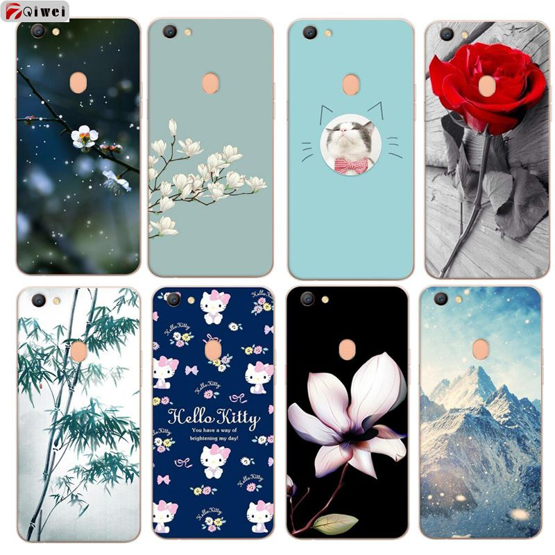 release date ee824 7d823 For OPPO F5 Case Silicone Cute Cartoon Cat Animal Back Phone Cases ...