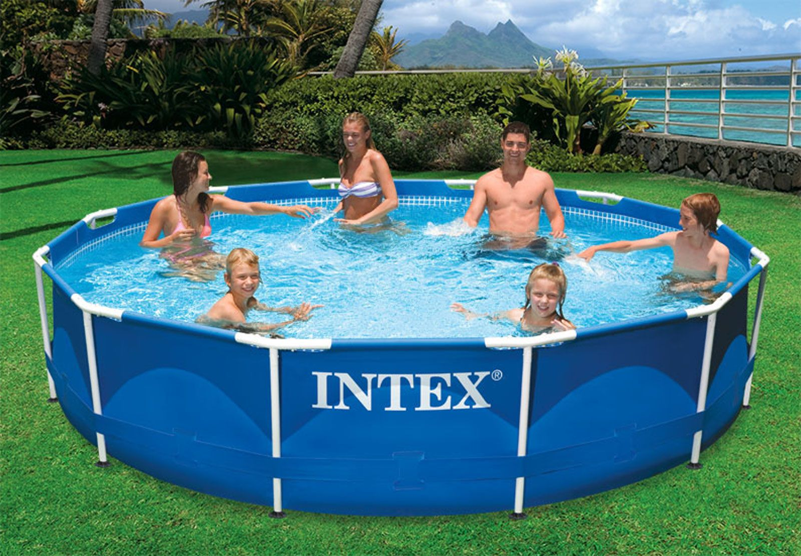 Intex 12 X 30 Metal Frame Pool 108 99 Above Ground Swimming Pools Swimming Pool Filters Intex