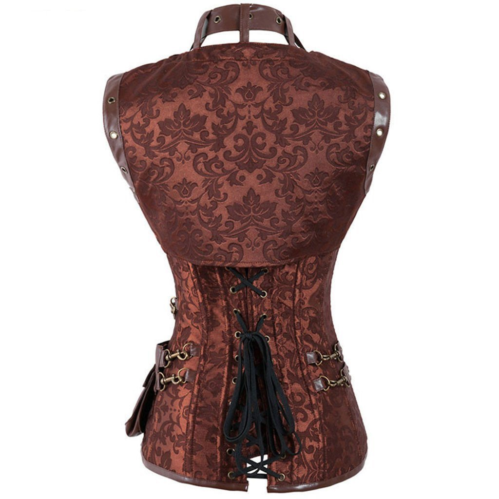 Corset With Shoulder Pad And Bag