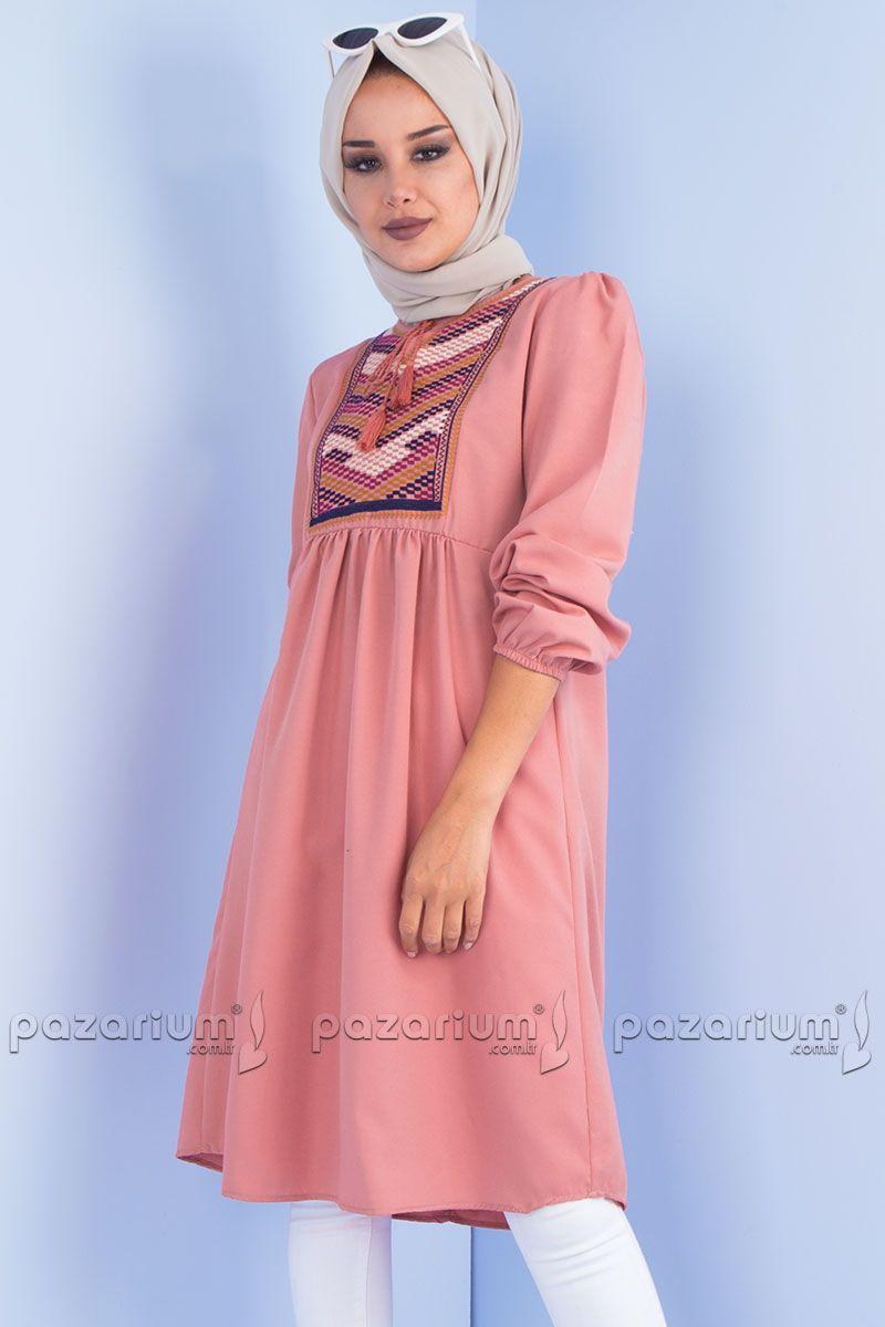 Pazarium Com Tr Adli Kullanicinin Tesettur Tunik Modelleri Panosundaki Pin Moda Stilleri Giyim Elbise