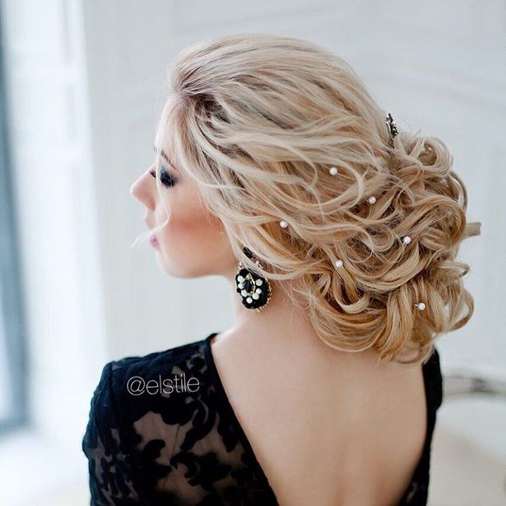 beautiful bridal hairstyle #updo #bridalhairstyle #updobridal #updobridal #weddinghair #hairstyles