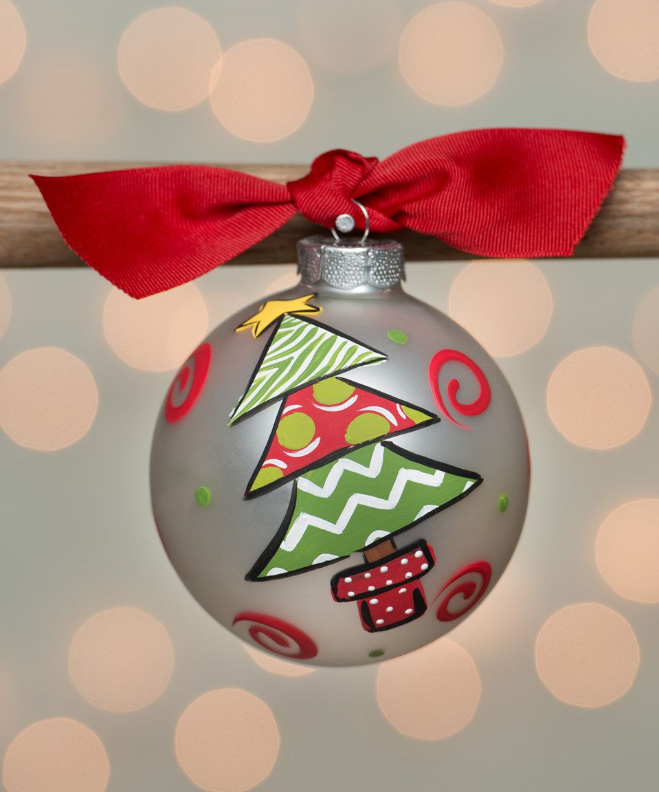 Another Great Find On Zulily Christmas Tree Personalized Ornament By Brushfire Design Painted Christmas Ornaments Glass Ornaments Diy Diy Christmas Ornaments