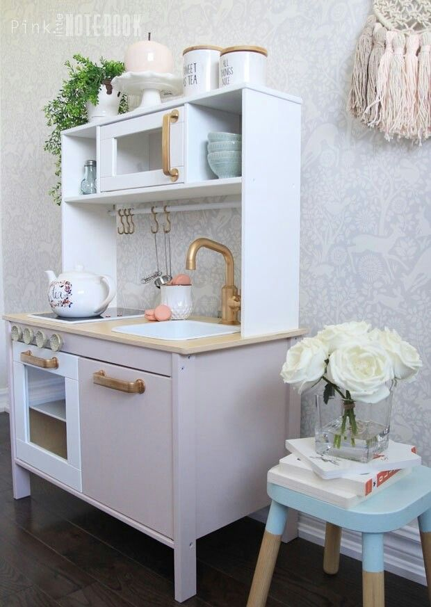 Pretty kid kitchen | diy in 2019 | Ikea play kitchen, Ikea ...