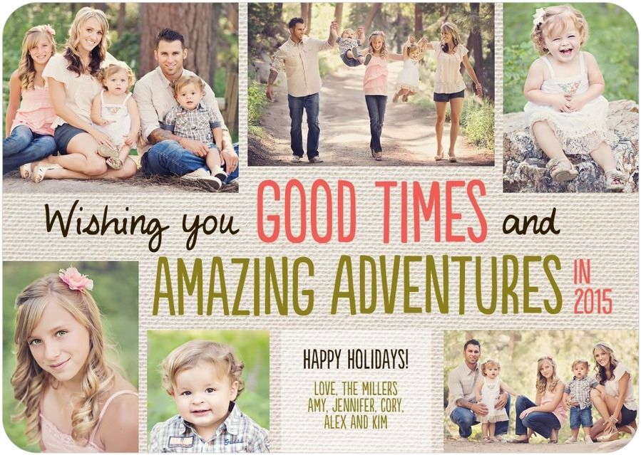 Wishing You Good Times and Amazing Adventures Collage Christmas Card ...