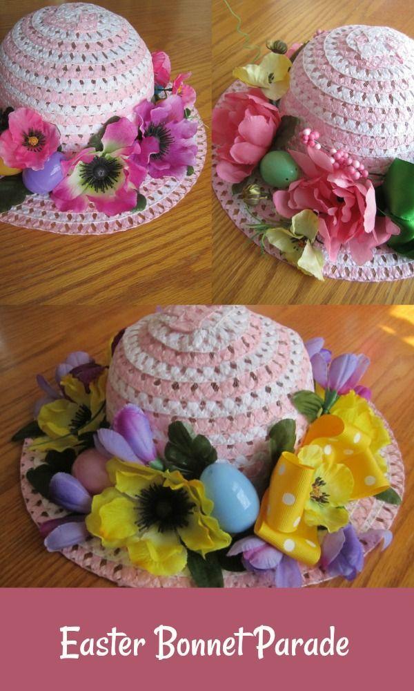 Custom Easter Tea Bonnet Easter Bonnet Ideas For Kids Easter Bonnet Easter Bonnet Ideas Easter Parade Hats Custom Easter Easter Kids Easter Hats