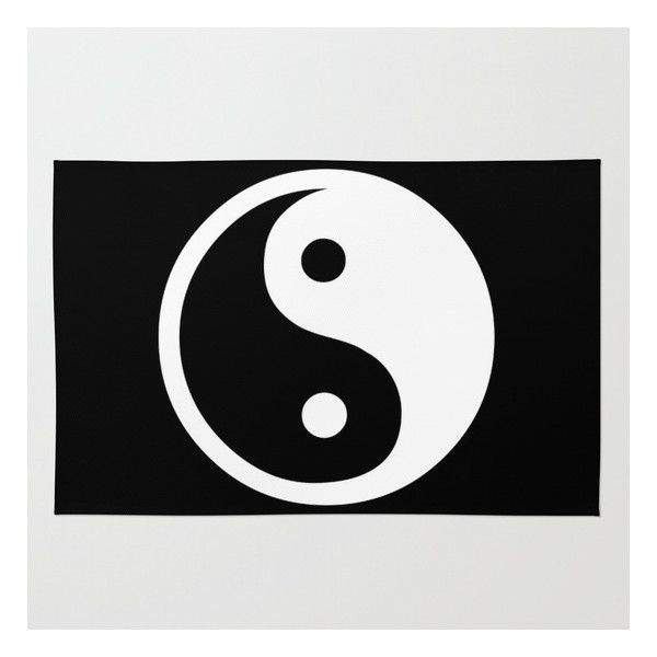 Harmony Yin Yang Black White Rug ($79) ❤ Liked On Polyvore Featuring Home,  Rugs, Black White Area Rug, Black And White Throw Rugs, Yin Yang Rug, ...