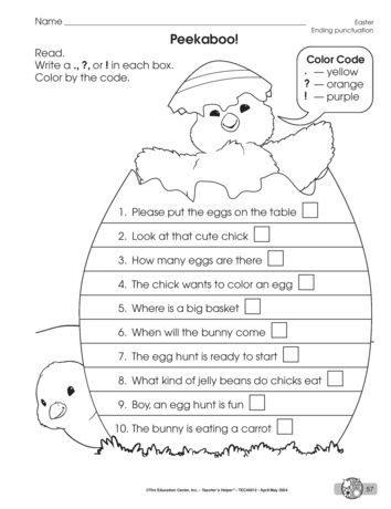 Peekaboo A Language Arts Worksheet For Practicing Ending Punctuation A Freebie From Themailbox Art Worksheets Language Arts Worksheets Punctuation Activities Punctuation worksheets for preschoolers