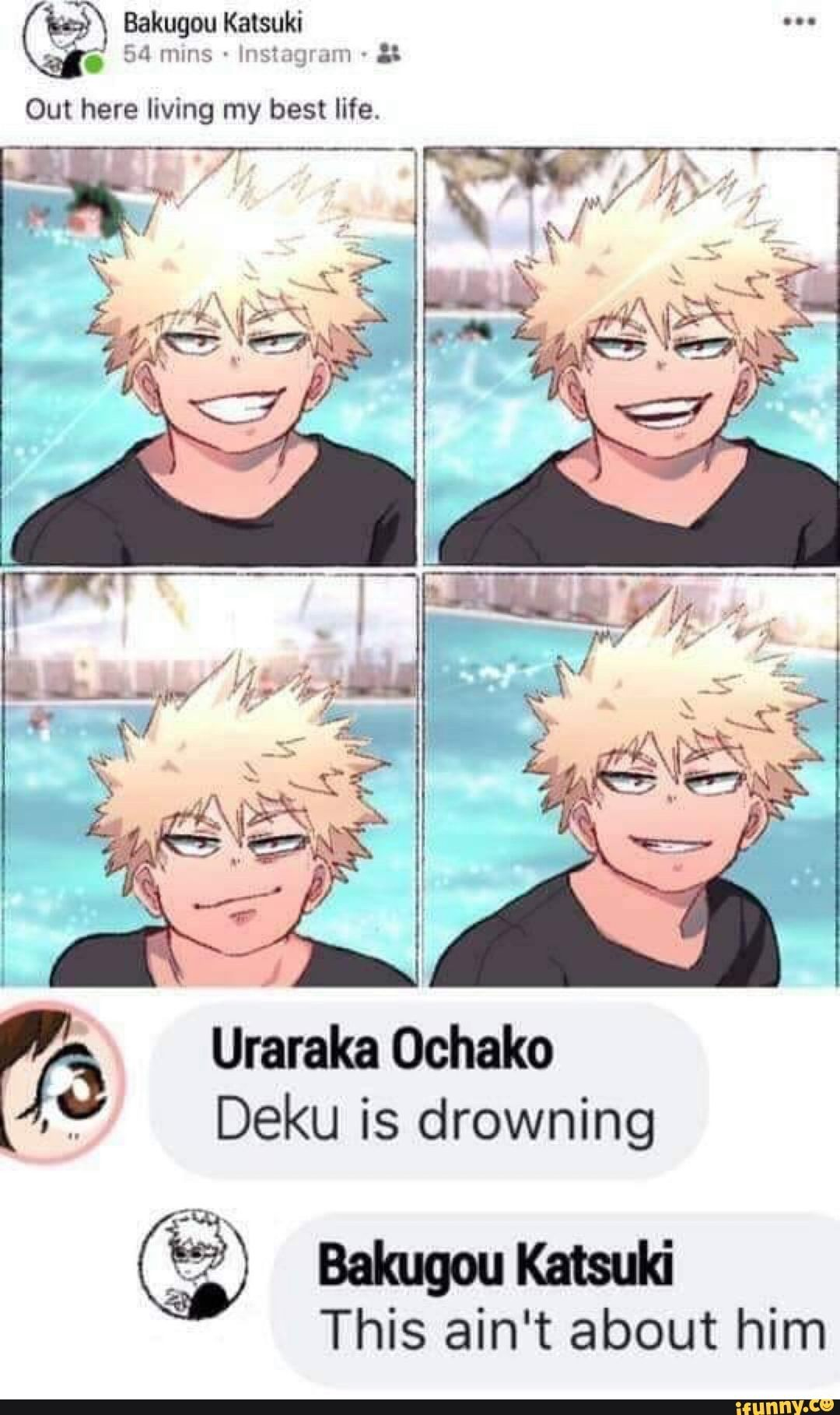 V5 Uraraka Ochako A .. Deku is drowning This ain't
