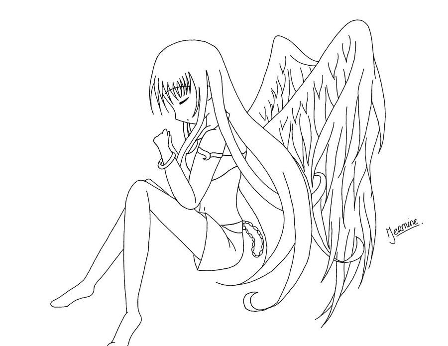 Anime Angel Colouring Pages Angel Coloring Pages Cool Coloring Pages Cat Coloring Page