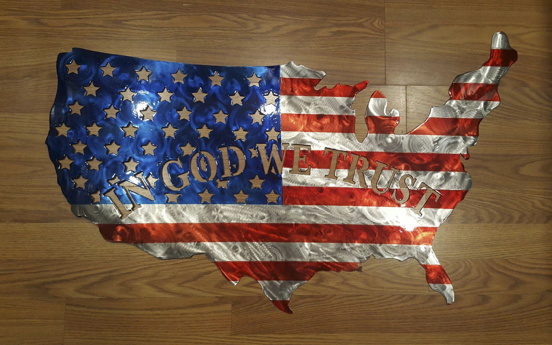 In God We Trust Usa Flag In God We Trust Fire Trucks Usa Flag