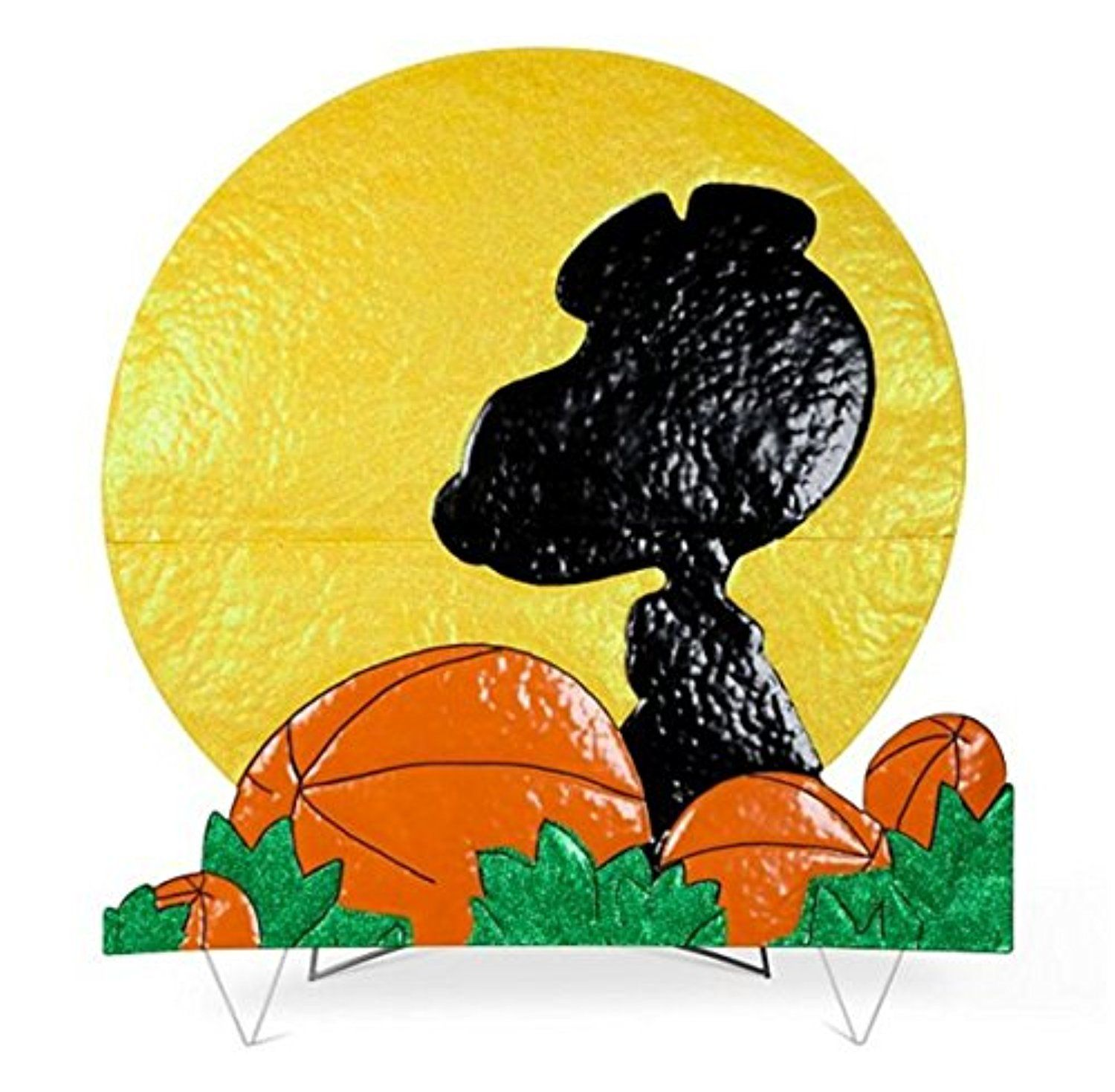 Peanuts Snoopy Silhouette with Moon Halloween Yard
