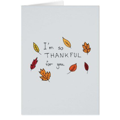 Cute thankful for you hand drawn thanksgiving holiday card | Zazzle.com -   19 diy thanksgiving cards easy ideas