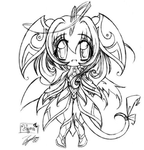 chibi Coloring Pages | complicated chibi colouring pages | anime ...