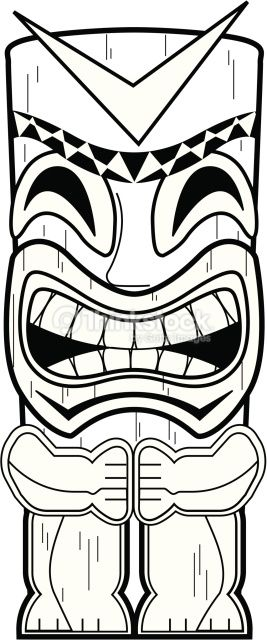 Hawaiian Tiki Masks Coloring Pages Hawaiian Tiki Tiki Mask