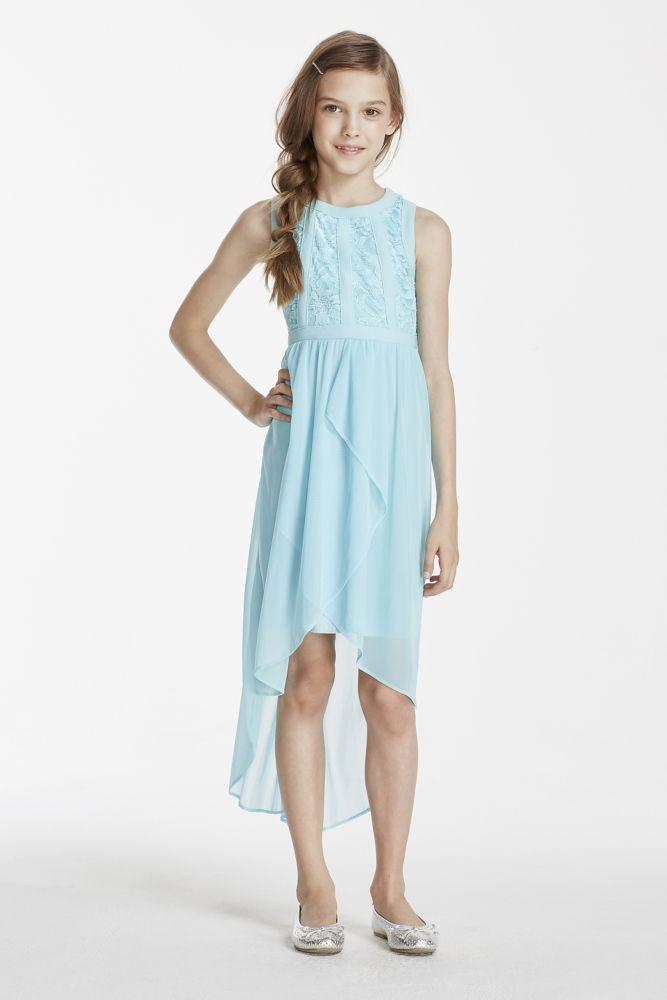 4e322eecd High Low Glitter Lace Mesh Dress - Pool (Blue), 16   *Wedding ...