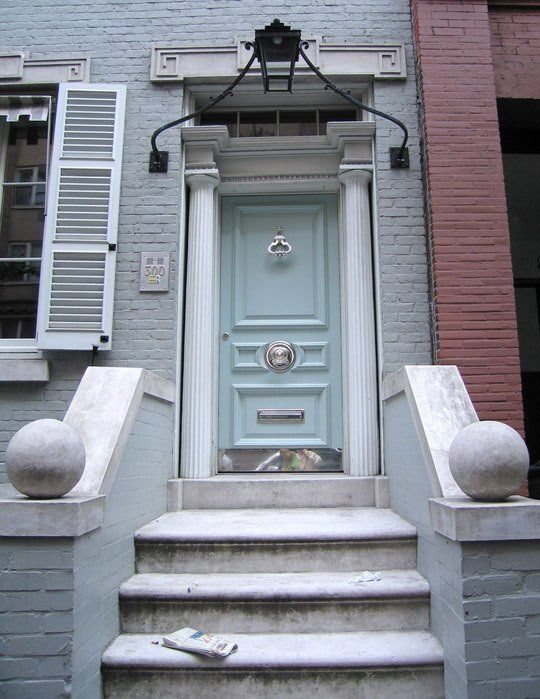 Soft front door color / style...would love to paint brick gray