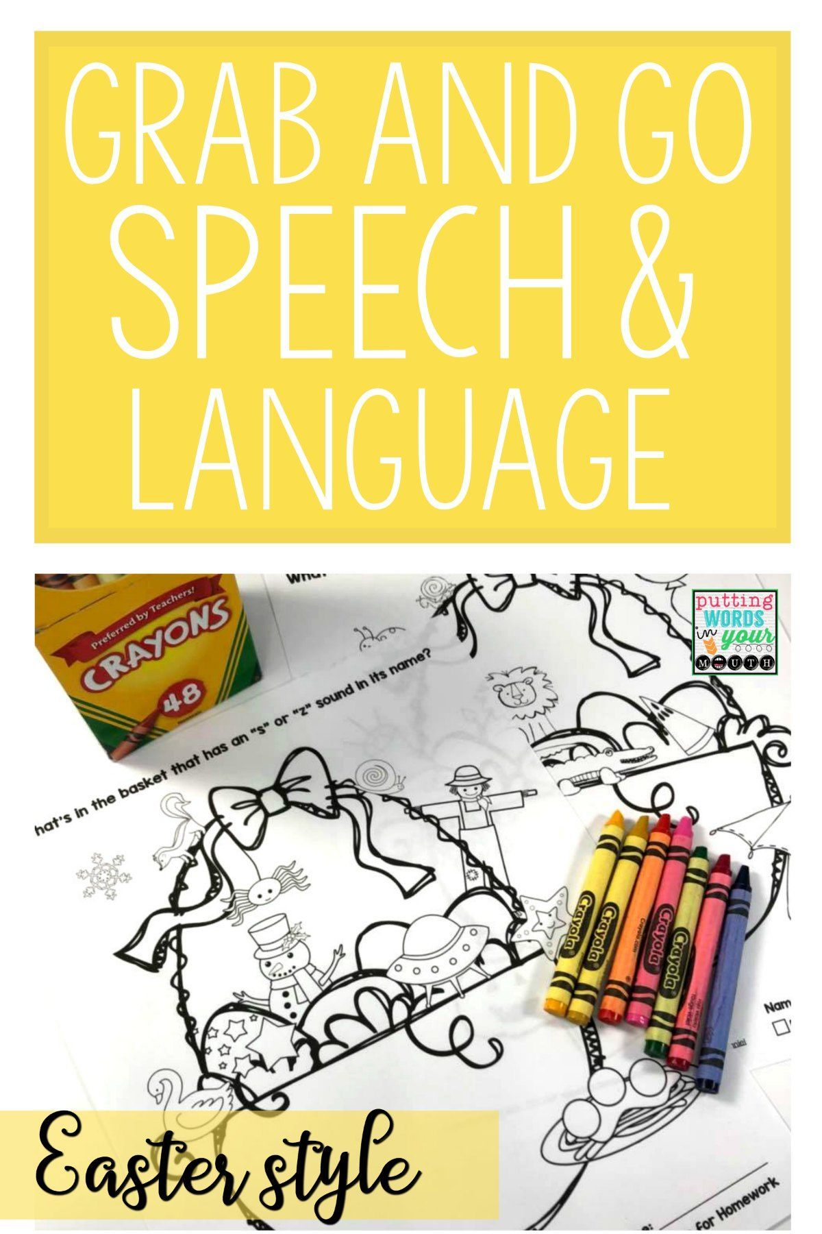 Speech And Language Therapy Activites And Homework