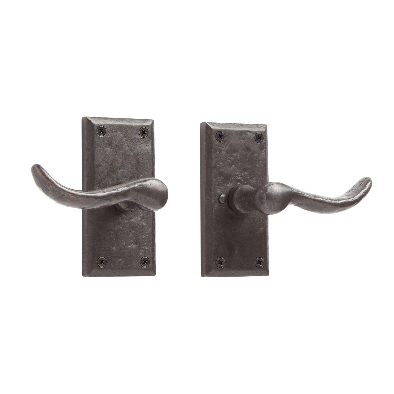 Duncan Rectangular Solid Bronze Lever Set Privacy Passage And Dummy Door Handles And Locks Hardware Door Handles Rustic Doors Signature Hardware
