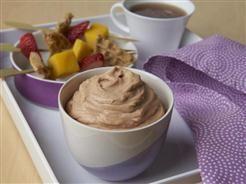 waffle and fruit skewers w peanutty dip   -  Food |  -