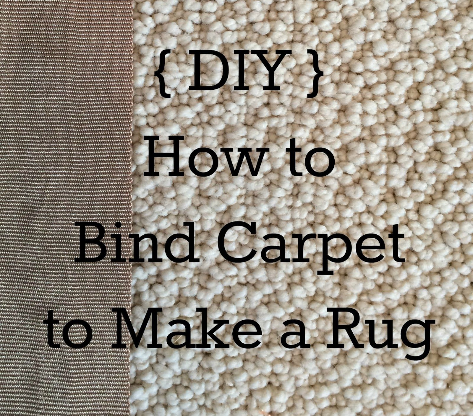 A Blessed and Blissful Life: {DIY} How to Make a Rug from ...