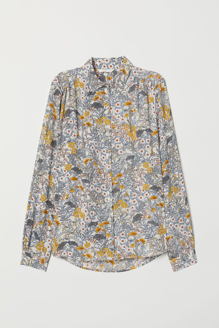 c4460041f112b9 Long-sleeved Blouse in 2019 | Closet, Capsules by Color | Blouse ...