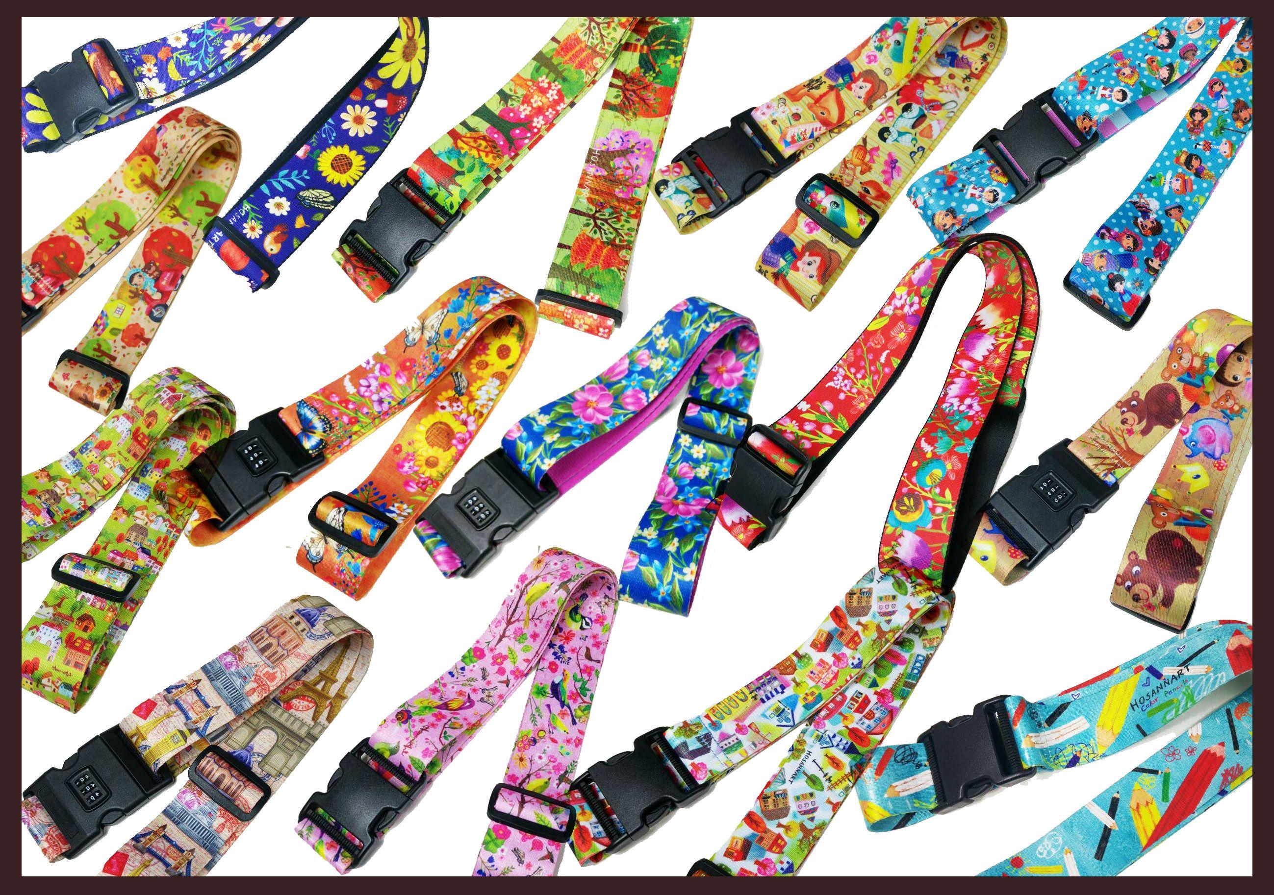 d2d60c7ebb97 HosannArt printing Luggage straps