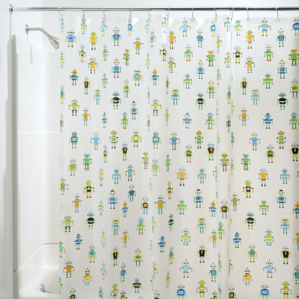 Robotz Shower Curtain by InterDesign | Home Decor for Geeks | Pinterest