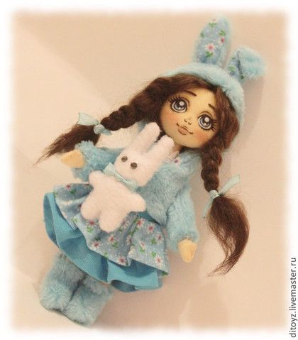 Коллекционные куклы ручной работы. Ярмарка Мастеров - ручная работа Заюшка Конфетка, текстильная кукла. Handmade.