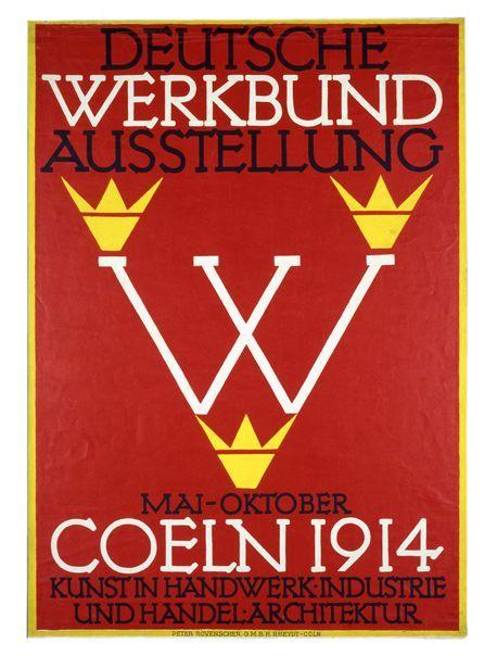 (1914) Poster of Deutscher Werkbund exhibit in Cologne ## Manifesto dell'esposizione di Colonia del Werkbund ##