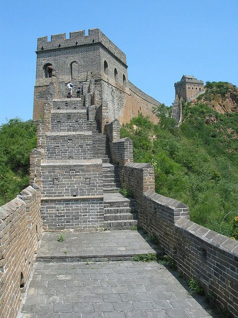 steps on the great wall of china by josh bock via flickr on great wall of china huanghuacheng id=85889