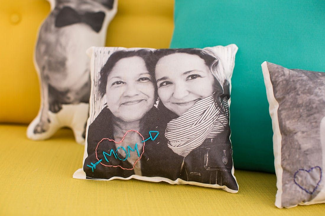 Surprise mom with a unique handstitched photo pillow this motherus