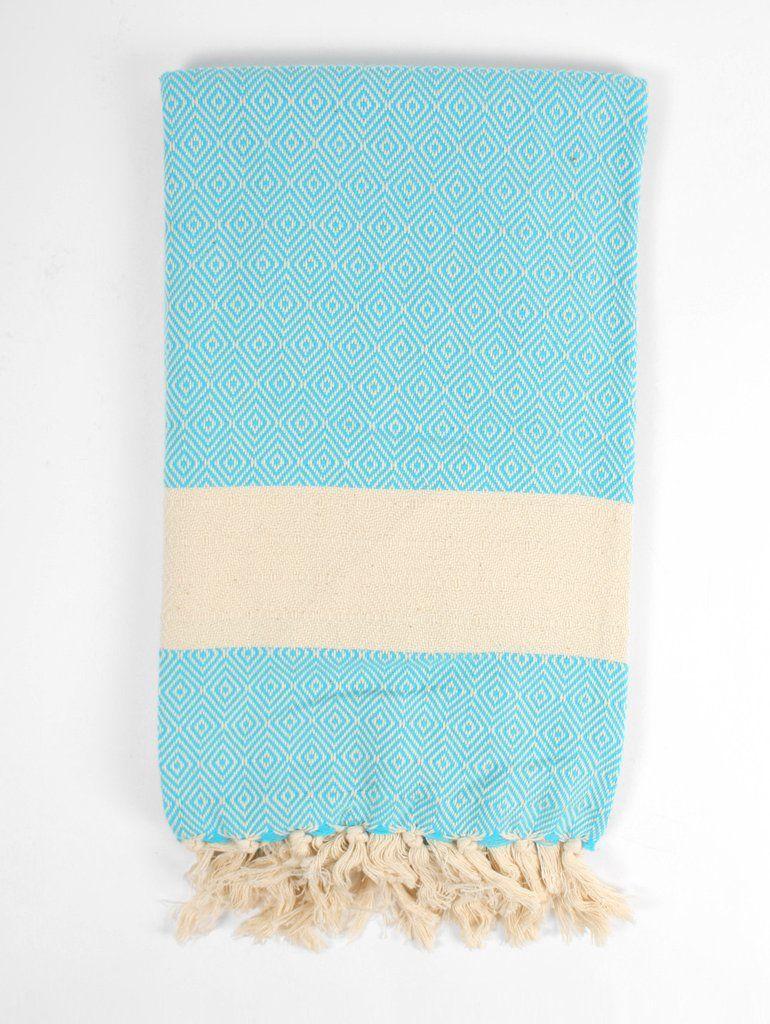 Nordic Hammam Towel, Turquoise #category:hammam-towels #colour:blue #group:Hammam-Towels