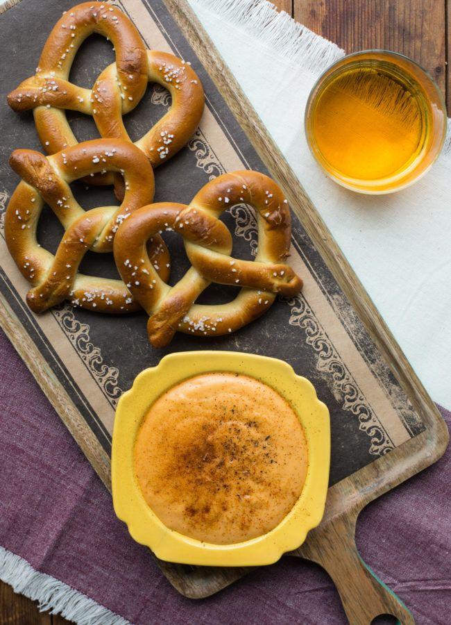 cheese beer dip with hot pretzels  beer dip food food