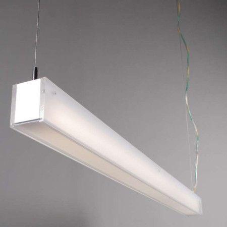 Lampara Colgante Tube R Blanco 28w Lamparas Colgantes Tipos De Luz Y Iluminacion Moderna