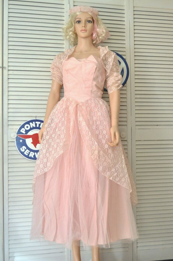Vintage Womens Teens 50s Pink Formal Prom by HotRodGirlVintage | Hot ...