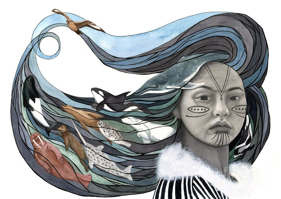 The story of #Sedna the #Inuit goddess of sea creatures ...