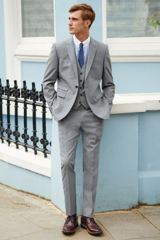 Buy Light Grey Slim Fit Suit: Jacket from the Next UK online shop ...
