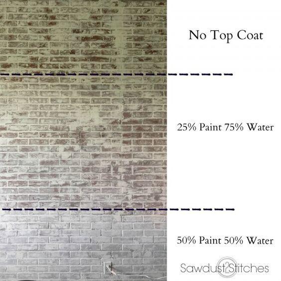How To Faux Brick Wall Faux Brick Walls Faux Brick White Wash
