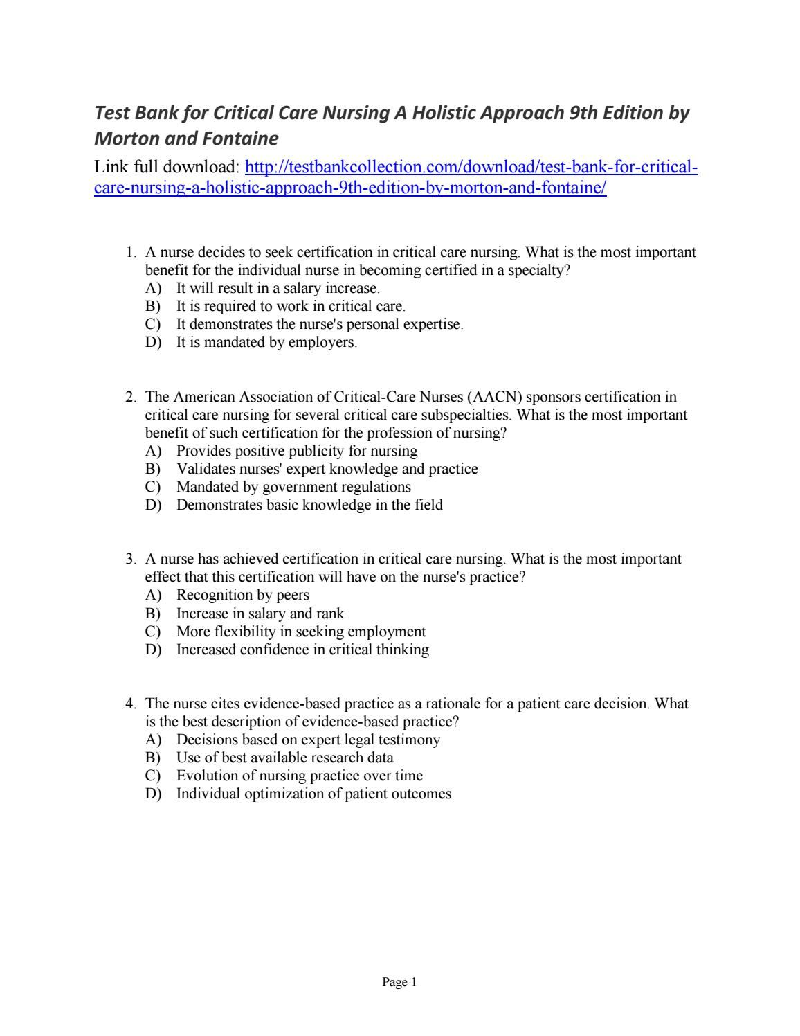Free Resume Sample » critical care nursing certification | Resume Sample