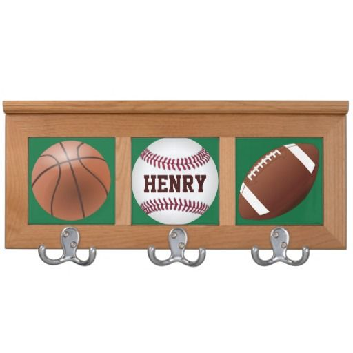 Personalized Sports Theme Coat Rack