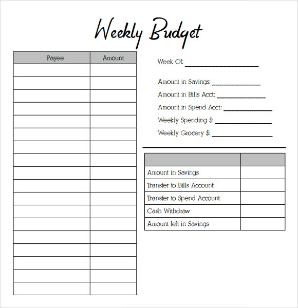 Weekly Budget Templates 14+ Free MS Word, Excel & PDF