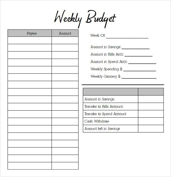 Weekly Budget Templates 14 Free Ms Word Excel Pdf Budget Sheet Template Weekly Budget Template Budgeting Worksheets