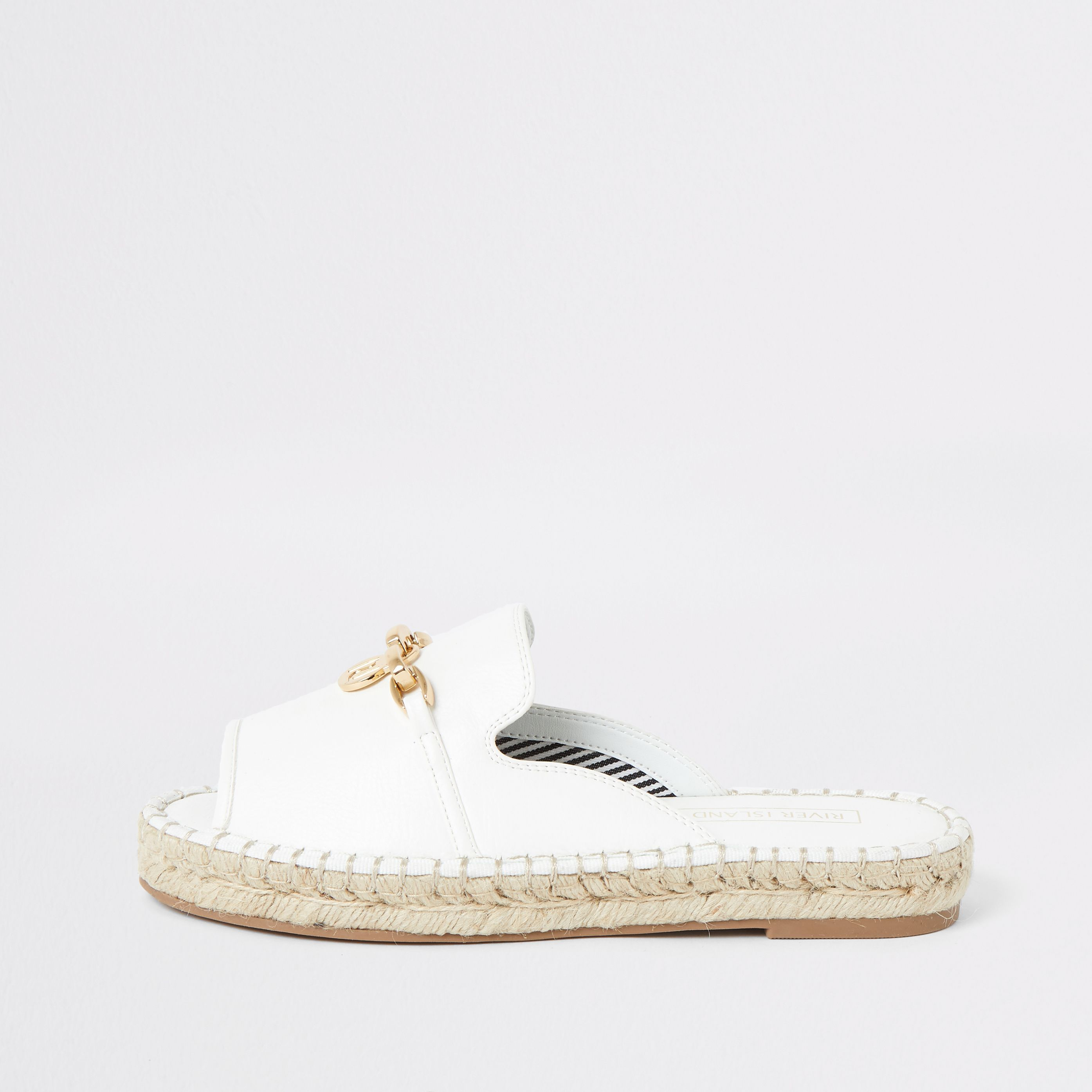 9ae8fcc1069 White espadrille peep toe sandals in 2019 | Products | White ...