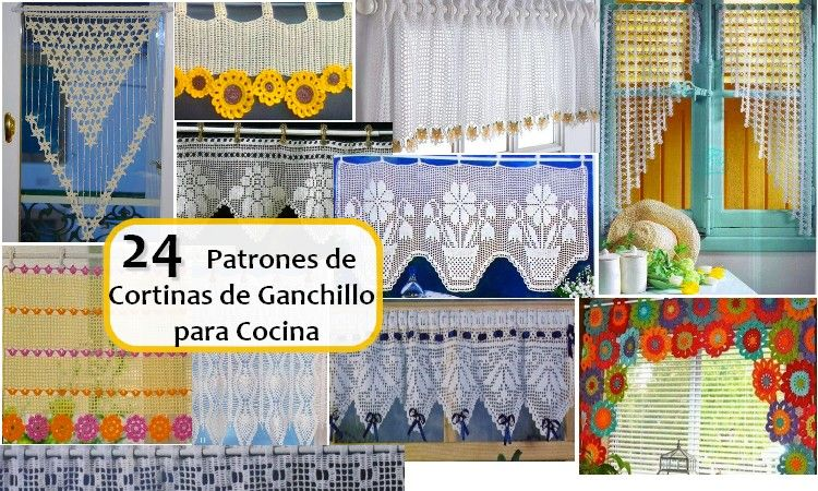 Espanhol cortinas for Cortinas de ganchillo