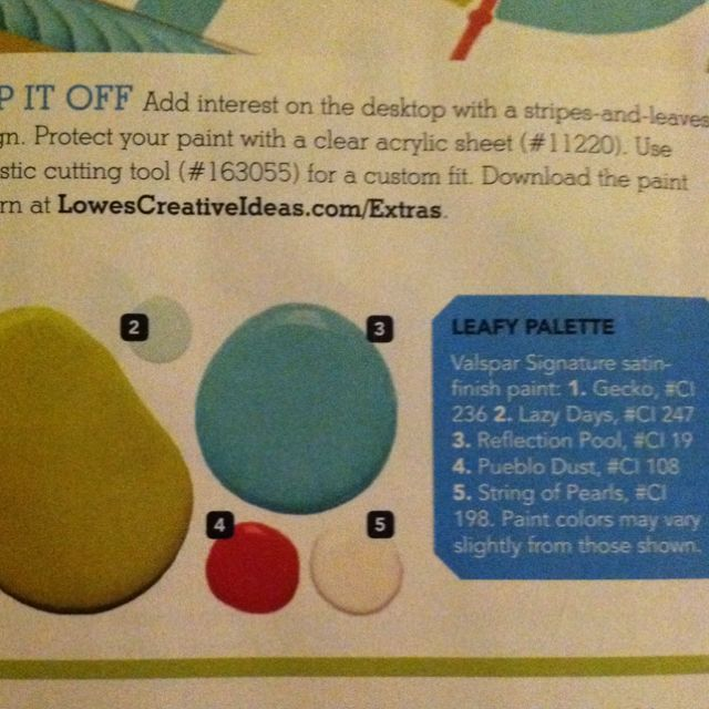 Love This Lowes Color Pallet Satin Finish Paint Clear Acrylic Sheet Color Pallets